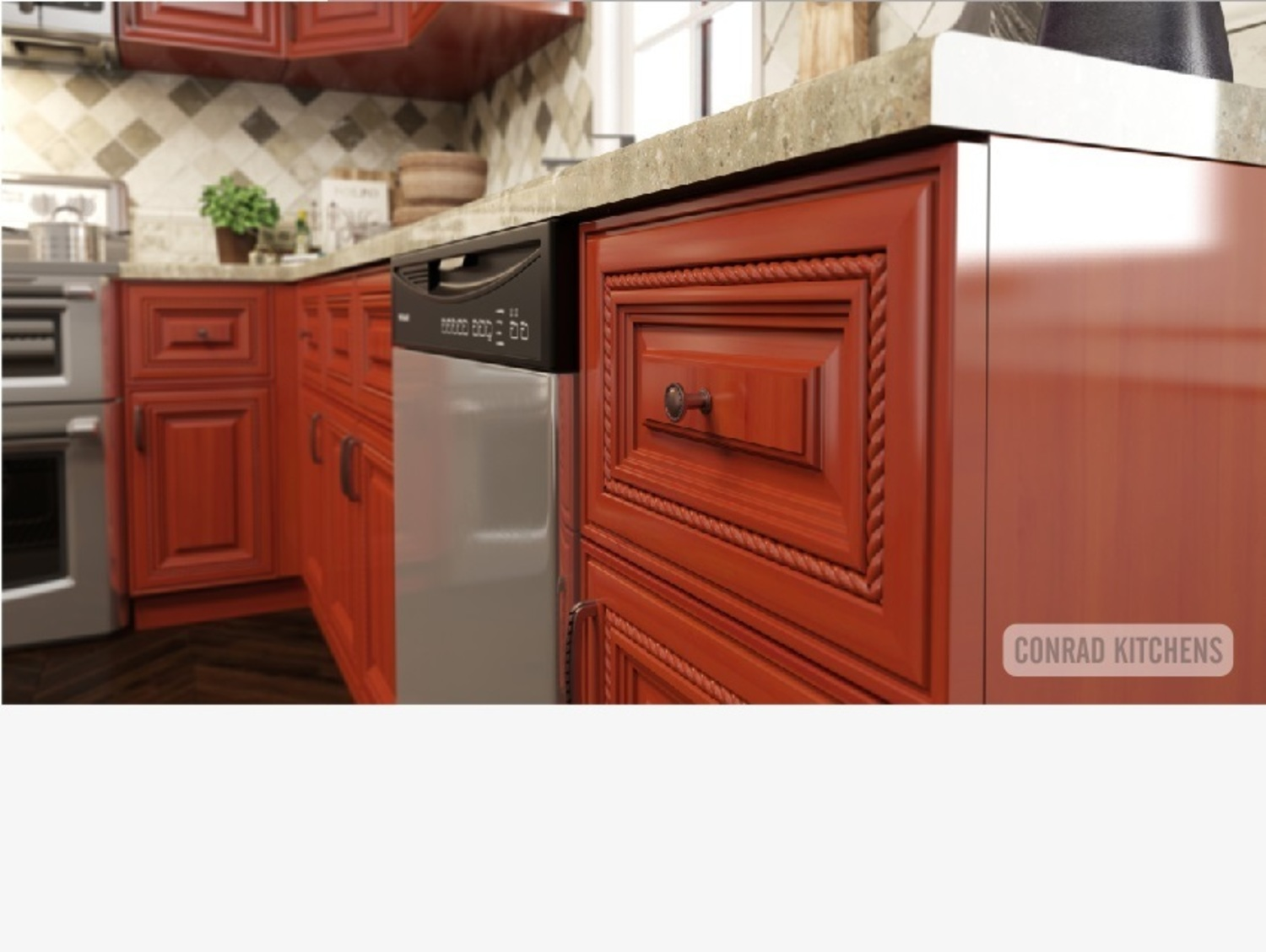 Cherry Rope Kitchen Choose Kitchen Cabinets At Affordable Price