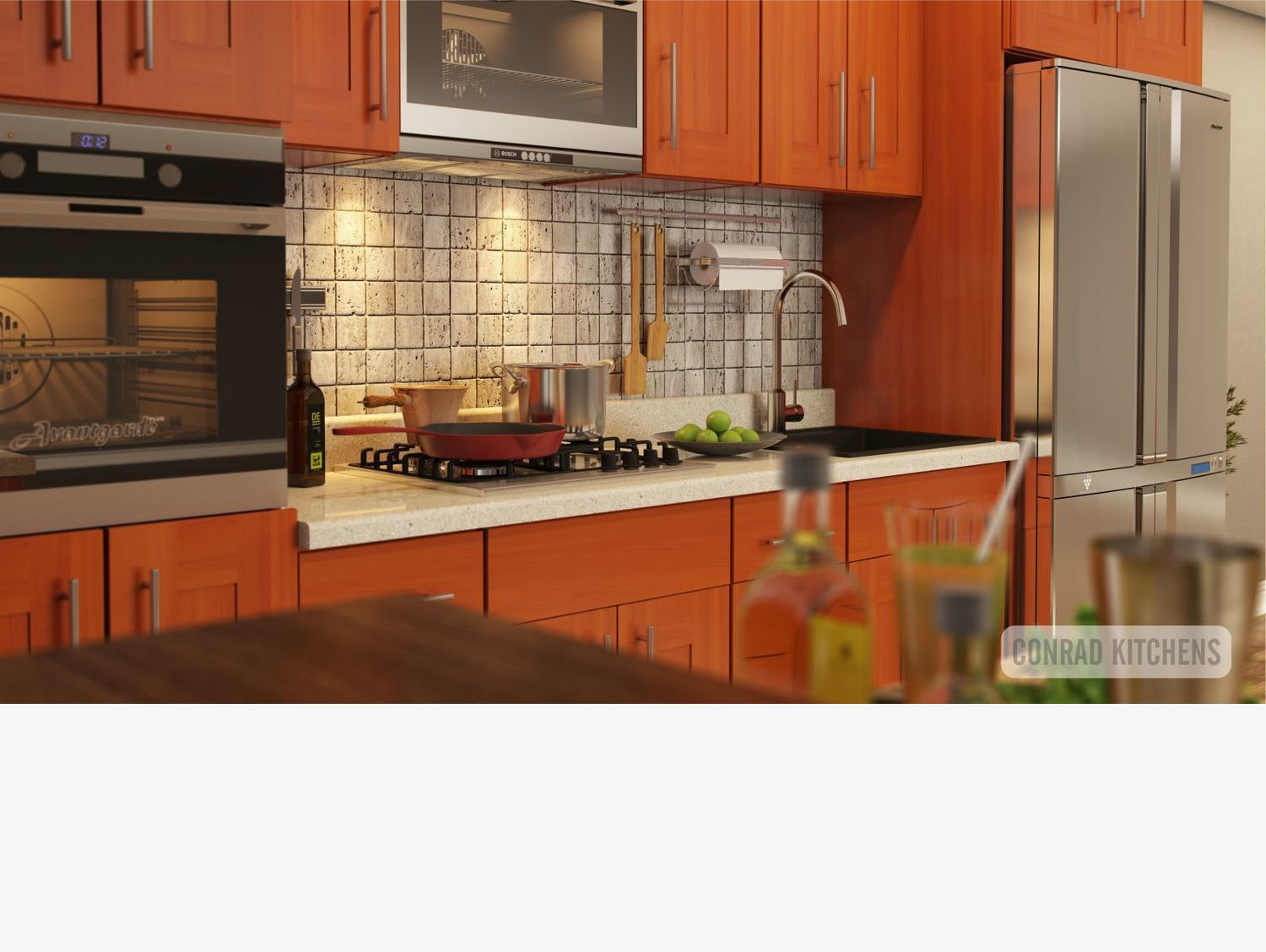 Cherry Shaker kitchen. Choose kitchen cabinets online at ...